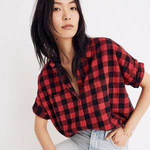 Madewell Flannel Courier Flannel Buffalo Check